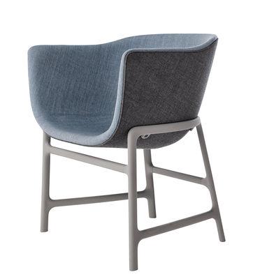 Minuscule Gepolsterter Sessel / Stoffbezug & Kunststoff - Fritz Hansen - Hellgrau,Dunkelgrau,Denimblau