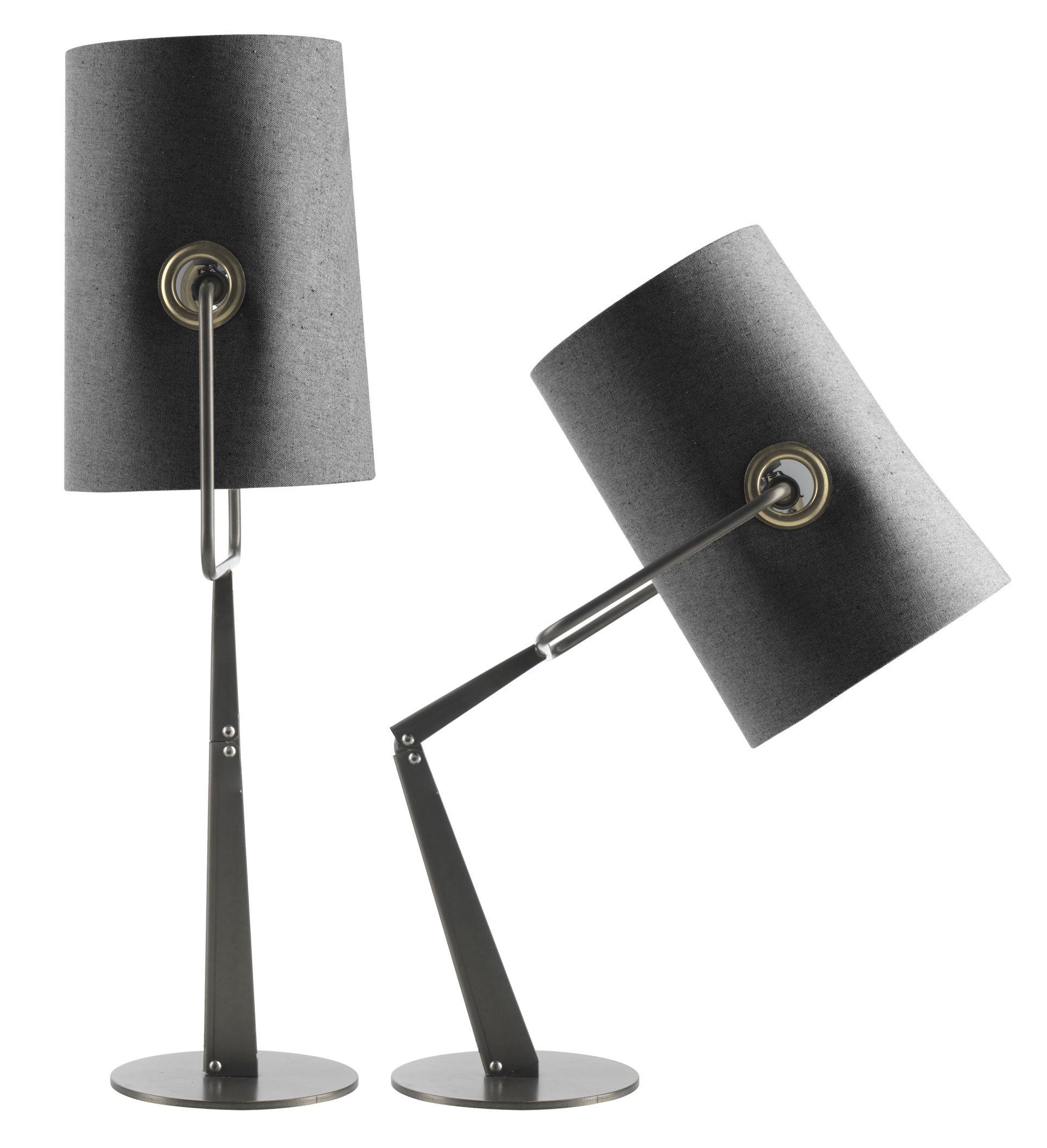 Illuminazione - Lampade da tavolo - Lampada da tavolo Fork di Diesel with Foscarini - Grigio - Metallo anodizzato, Tessuto