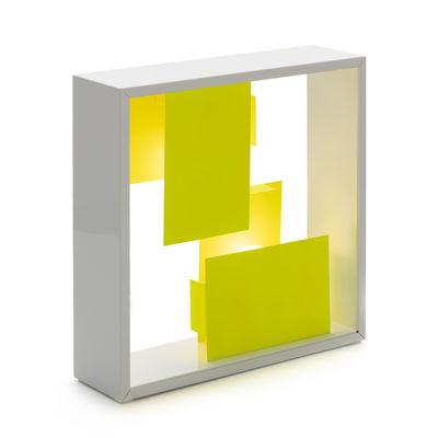 Luminaire - Lampes de table - Lampe de table Fato Bicolor / Applique - Réédition 1970 - Artemide - Jaune / Blanc - Acier