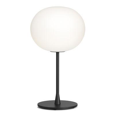 Lampe de table Glo-Ball T1 / H 60 cm - Verre soufflé bouche - Flos blanc,noir en verre