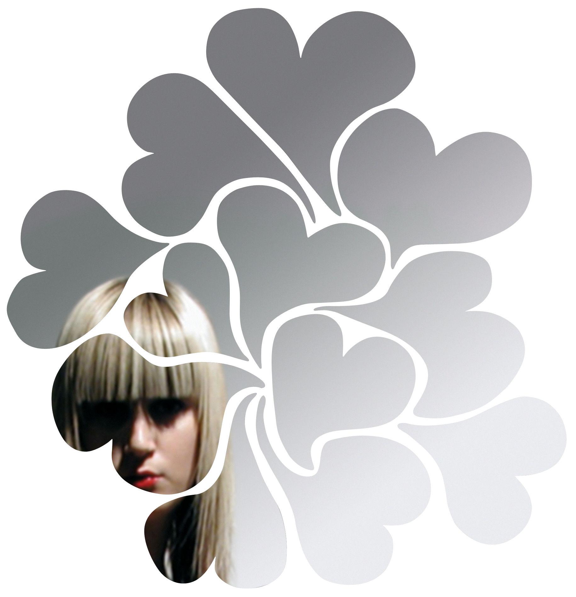 Mobilier - Miroirs - Miroir autocollant I love me / 50 x 50 cm - Domestic - I love me - Matière plastique