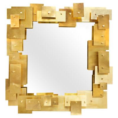 Miroir mural Puzzle / 79 x 75 cm - Jonathan Adler doré en métal