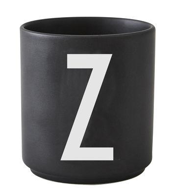 Mug Arne Jacobsen / Porcelaine - Lettre Z - Design Letters noir en céramique