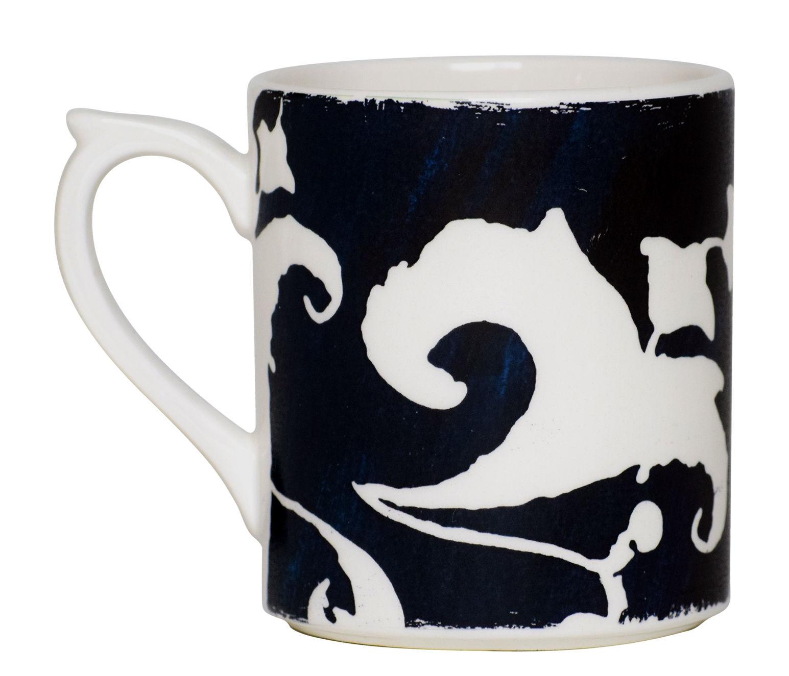 Arts de la table - Tasses et mugs - Mug Indigo / 25 cl - GIEN - Blanc / Fond bleu - Faïence fine de Gien