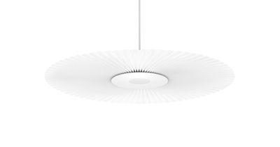 Lighting - Pendant Lighting - Carmen Small Pendant - / LED - Ø 90 cm - Pleated fabric by Hartô - White - Lacquered metal, Pleated fabric