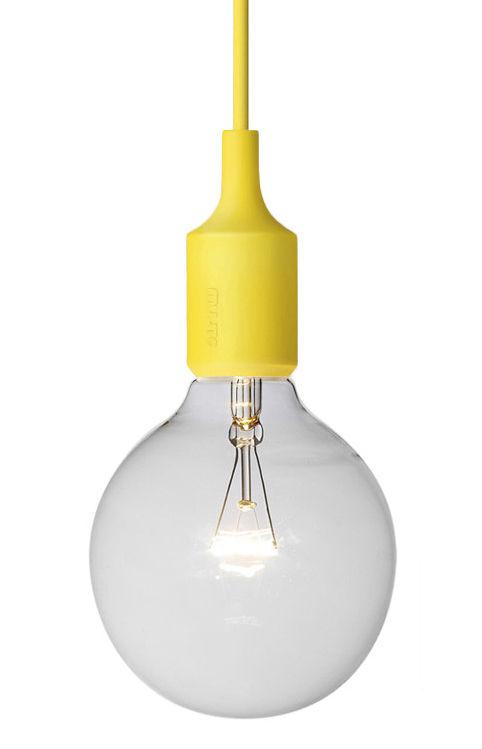 Lighting - Pendant Lighting - E27 Pendant by Muuto - Yellow - Silicone