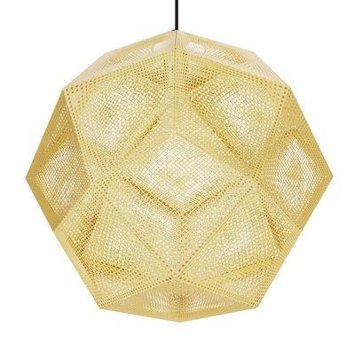 Lighting - Pendant Lighting - Etch Shade Pendant - Ø 50 cm by Tom Dixon - Brass - Metal