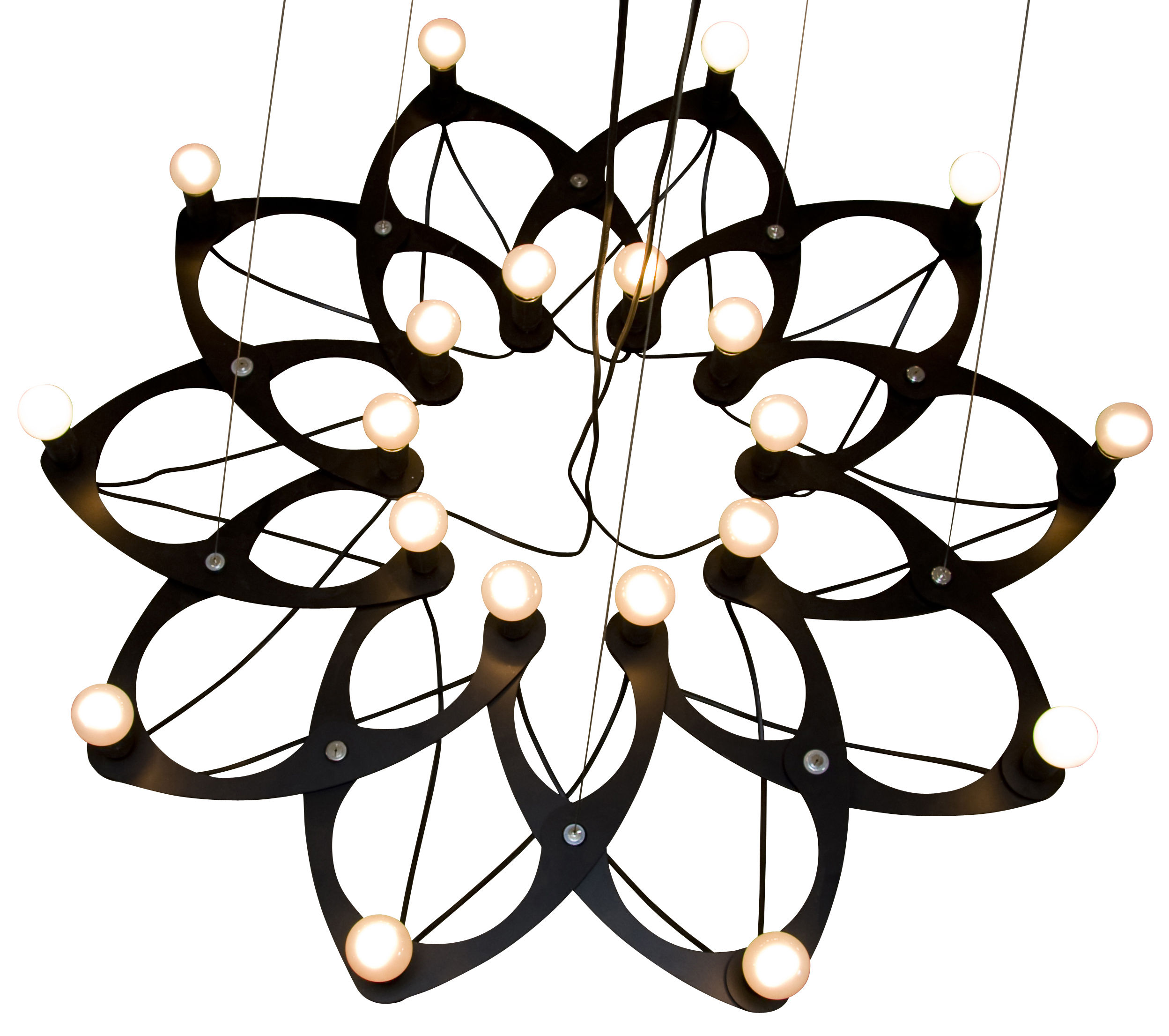 Lighting - Pendant Lighting - Ornametrica Pendant - Modular by Bloom! - Black - Lacquered aluminium