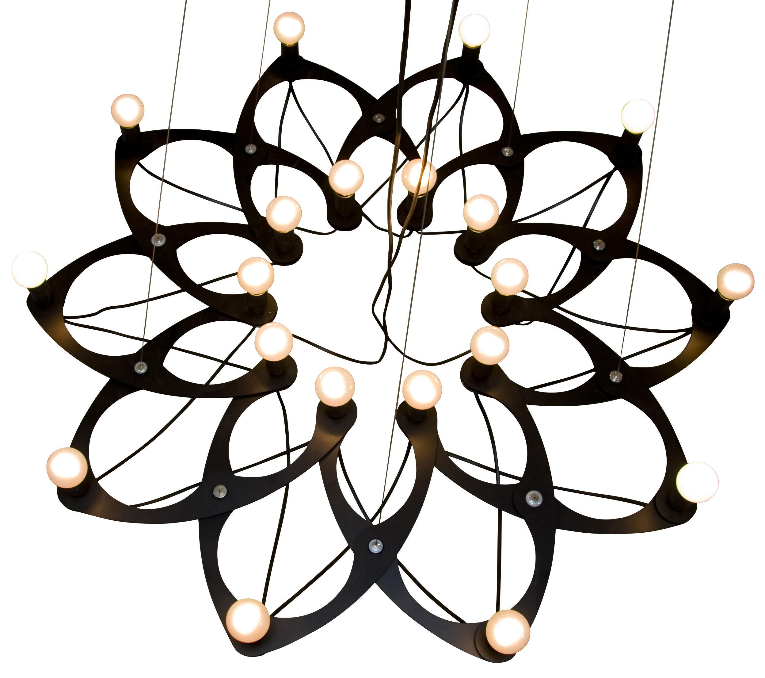 Leuchten - Pendelleuchten - Ornametrica Pendelleuchte Modular - Bloom! - Schwarz - lackiertes Aluminium