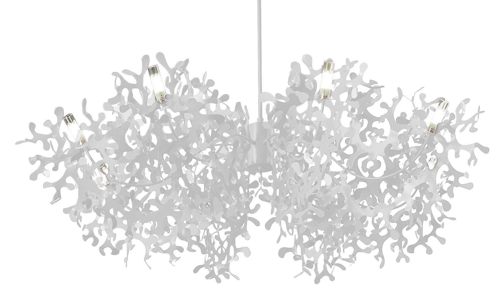 Leuchten - Pendelleuchten - Supercoral 8 Pendelleuchte Ø 140 cm - Lumen Center Italia - Weiß - lackiertes Metall