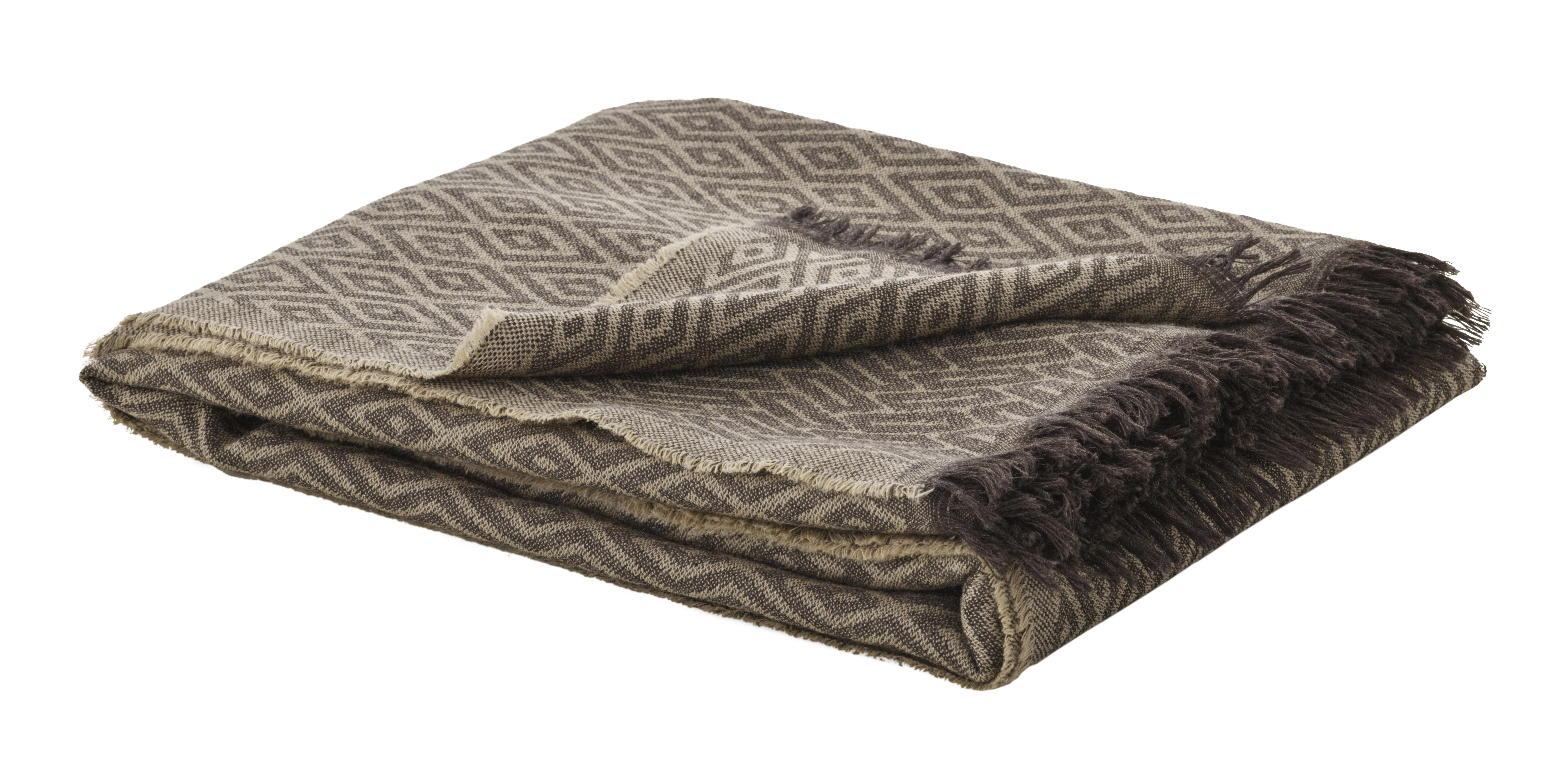Decoration - Bedding & Bath Towels - Plaid - / Limited edition - 195 x 120 cm by Fritz Hansen - Earth & Beige - Merinos wool