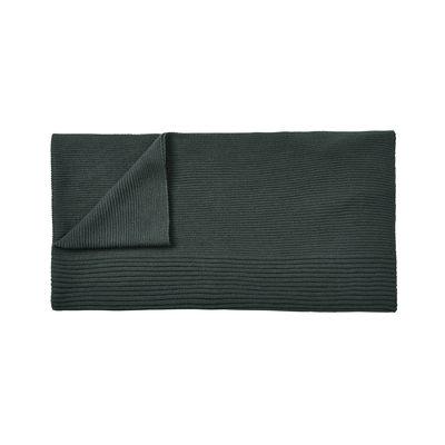 Déco - Textile - Plaid Rhythm / Laine baby lama tricotée main - 160 x 130 cm - Muuto - Vert foncé - Laine baby lama