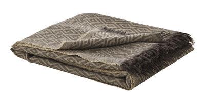 Déco - Textile - Plaid / Edition limitée - 195 x 120 cm - Fritz Hansen - Terre & Beige - Laine Mérinos