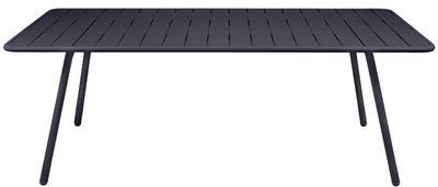 Outdoor - Tische - Luxembourg rechteckiger Tisch / für 8 Personen - 207 x 100 cm - Fermob - Anthrazit - lackiertes Aluminium