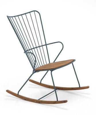 Rocking chair Paon Métal bambou Houe vert sapin,bambou naturel en métal