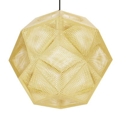 Illuminazione - Lampadari - Sospensione Etch Shade - / Ø 50 cm di Tom Dixon - Ottone - Metallo
