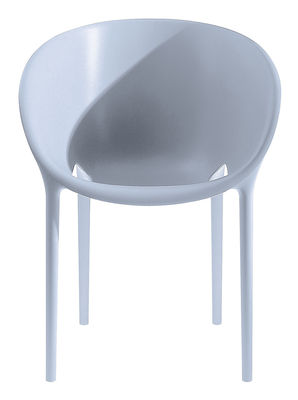 Furniture - Chairs - Soft Egg Stackable armchair - Polypropylen by Driade - Grey - Polypropylene
