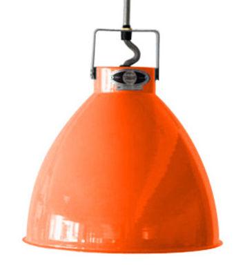 Suspension Augustin Large Ø 36 cm - Jieldé orange brillant en métal