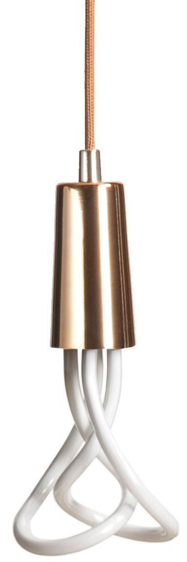 Luminaire - Suspensions - Suspension Drop Cap / Ampoule CFL 001 incluse - Plumen - Cuivre - Métal laqué