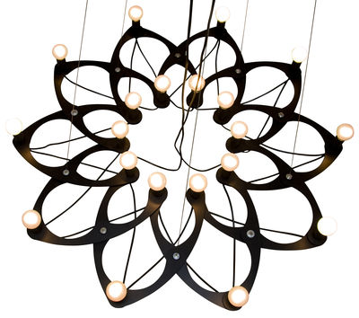 Suspension Ornametrica modulable - Bloom! noir en métal