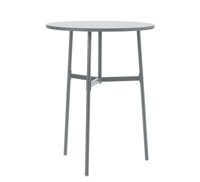 Table haute Union / Ø 80 x H 105,5 cm - Stratifié Fenix - Normann Copenhagen gris en métal