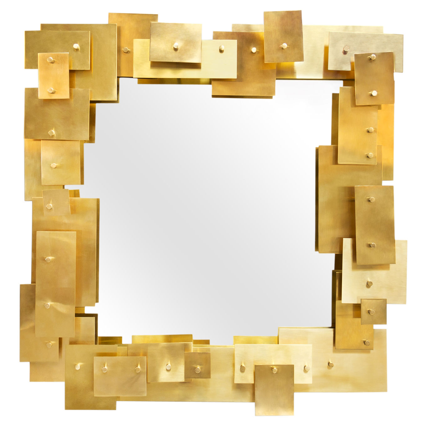 Decoration - Mirrors - Puzzle Wall mirror - 79 x 75 cm by Jonathan Adler - Gold brass - Brass, Mirror
