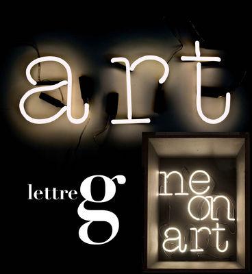 Applique con presa Neon Art - Lettera G di Seletti - Bianco - Vetro