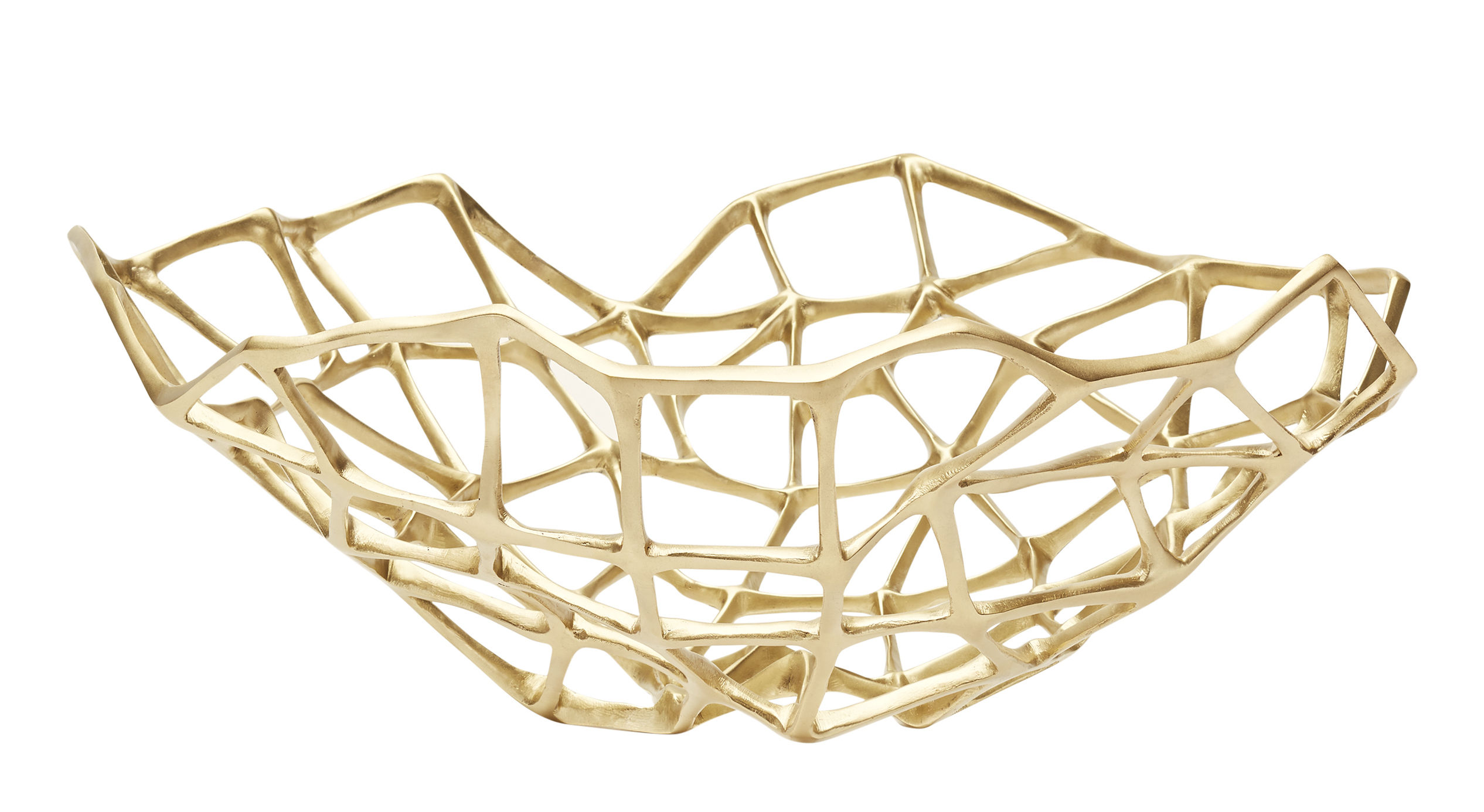 Tableware - Fruit Bowls & Centrepieces - Bone Extra Large Basket - Ø 60 cm by Tom Dixon - Ø 60 cm /Brass - Solid brass
