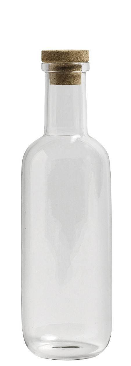 Arts de la table - Carafes et décanteurs - Carafe Bottle Small / 0,75 L - Bicchiere & sughero - Hay - 0,75 L / Liège & transparent - Liège, Verre borosilicaté