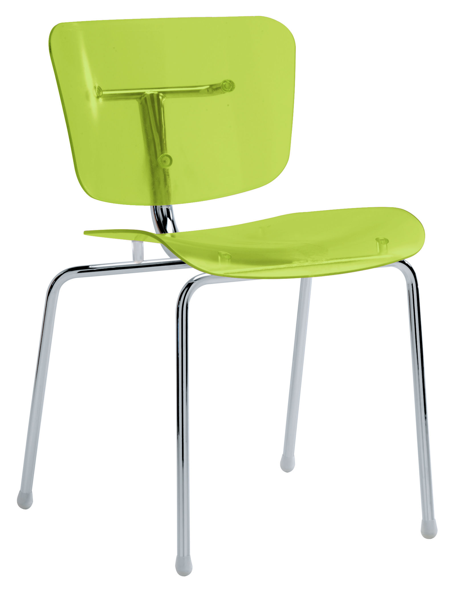 Chaise Slide Vert Menthe Transparent