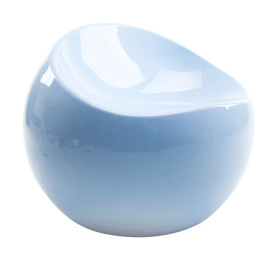 Furniture - Kids Furniture - Baby ball chair Children pouf - / Exclusivity by XL Boom - Pastel blue - Recycled lacquered ABS