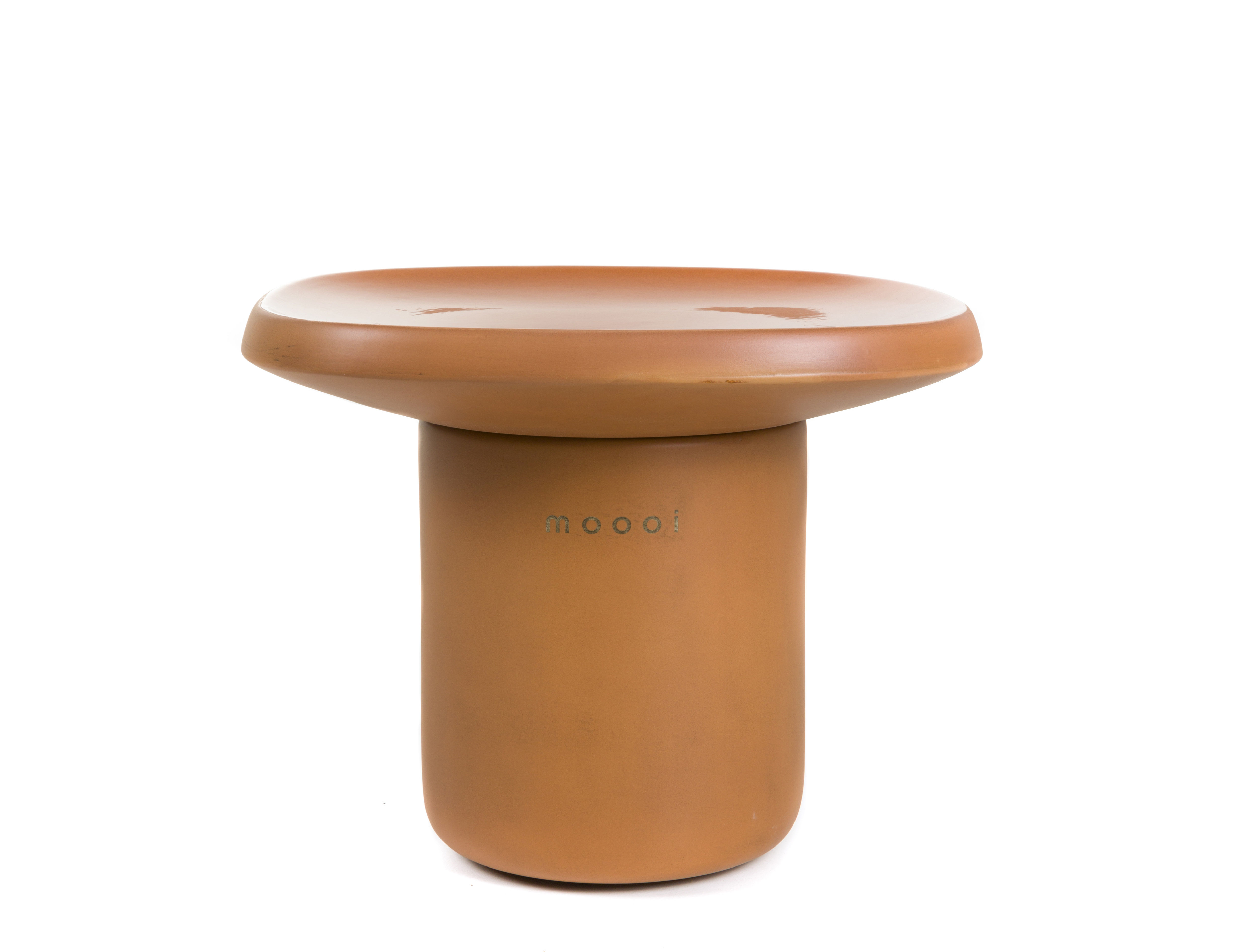 Furniture - Coffee Tables - Obon Coffee table - / Terracotta - 47 x 47 x H 37 cm by Moooi - Terracotta - Moulded terracotta