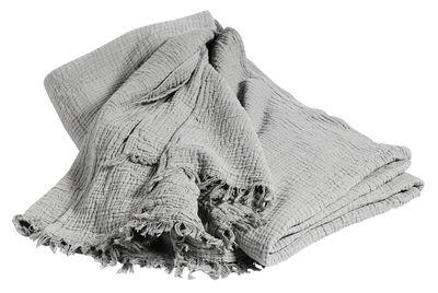 Copriletto Crinkle - / Cotone - 270 x 270 cm di Hay - Grigio - Tessuto