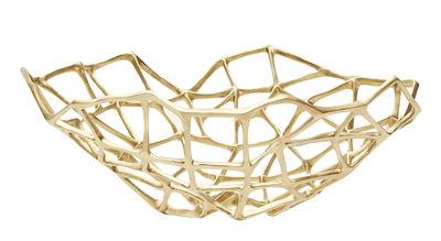 Arts de la table - Corbeilles, centres de table - Corbeille Bone Extra Large / Ø 60 cm- Laiton - Tom Dixon - Ø 60 cm / Laiton mat - Laiton massif