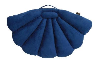 Déco - Coussins - Coussin Coquillage / Pliable - Velours - 75 x 94 cm - Garden Glory - Bleu nuit - Mousse, Velours