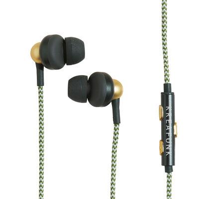 Ecouteurs aGem / Intra-auriculaires - Kreafunk or,vert kaki en matière plastique