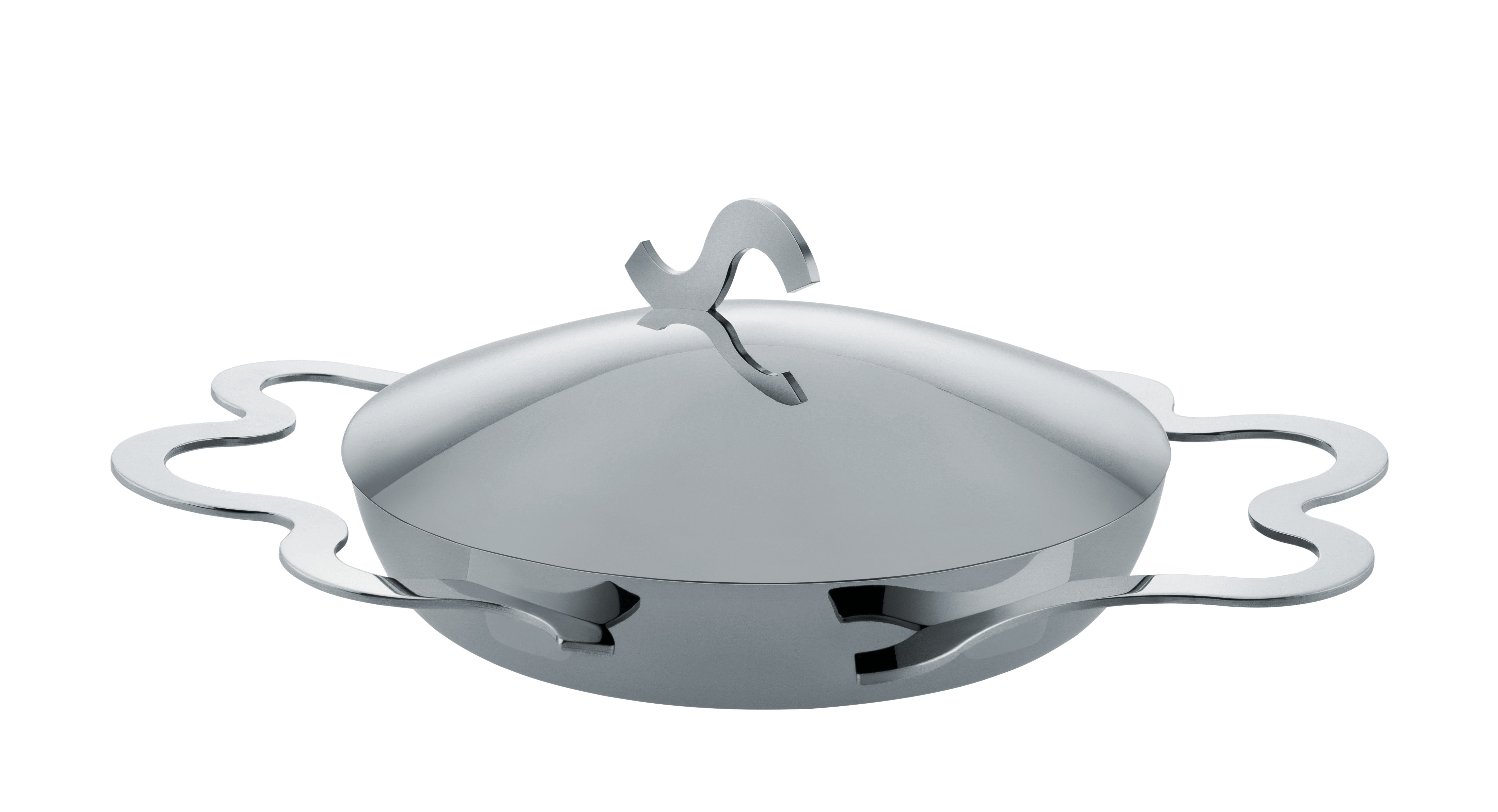 Kitchenware - Pots & Pans - Tegamino Egg cooking dish - / Ø 17 cm by Alessi - Steel - Plywood