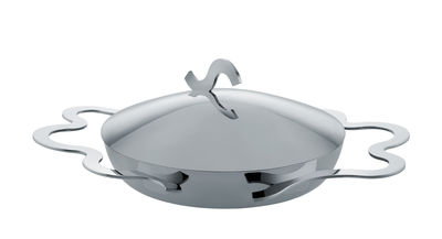 Küche - Pfannen, Koch- und Schmortöpfe - Tegamino Eiteller / Ø 17 cm - Alessi - Stahl - Vielschicht