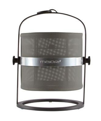 Lampe solaire La Lampe Petite LED / Hybride & connectée - Structure charbon - Maiori kaki,charbon en métal