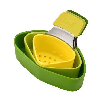 Cuisine - Ustensiles de cuisines - Panier vapeur Nest Steam / Set de 3 - Joseph Joseph - Vert & jaune - Acier inoxydable, Silicone