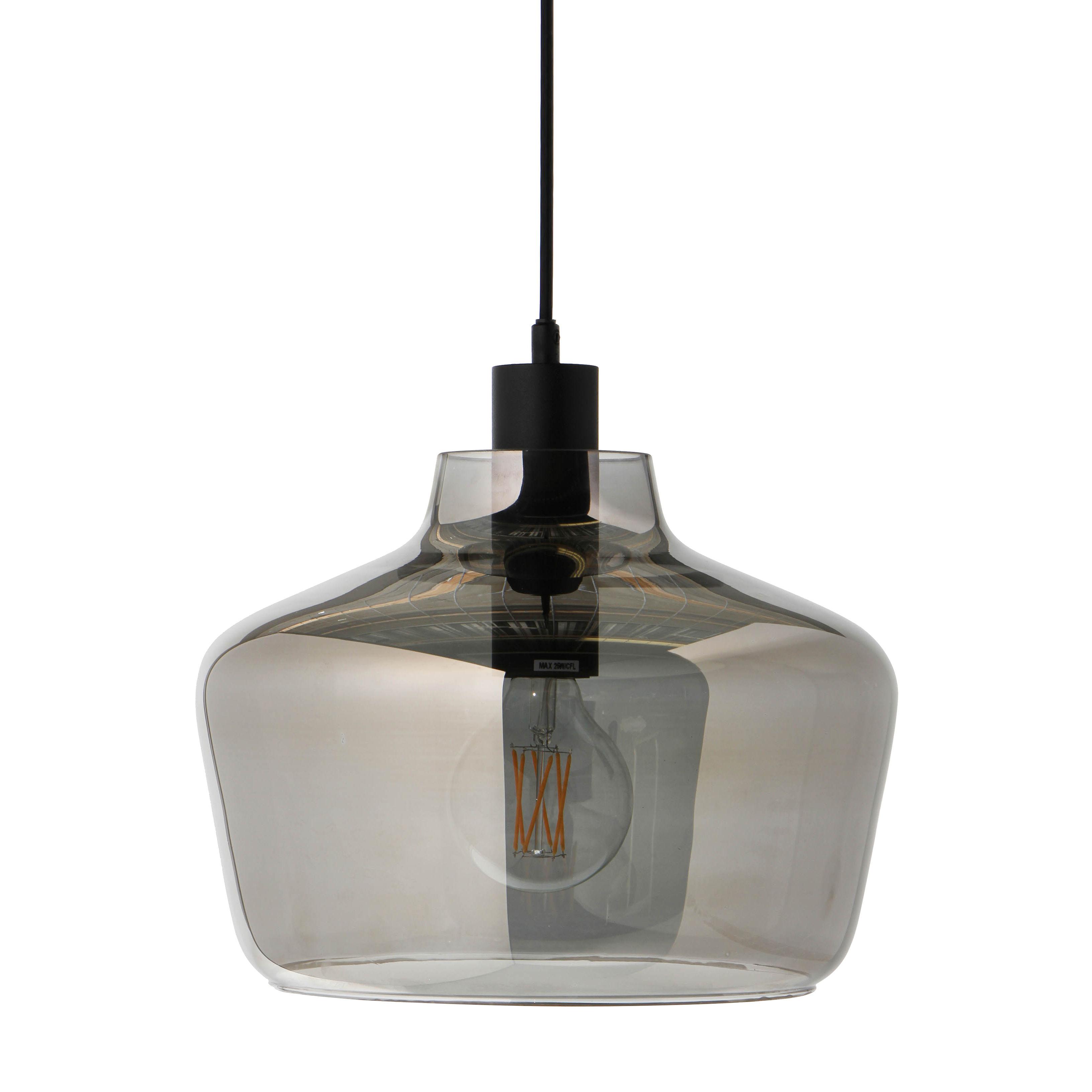 leuchten pendelleuchten kyoto pendelleuchte o 30 cm frandsen rauchgrau glas