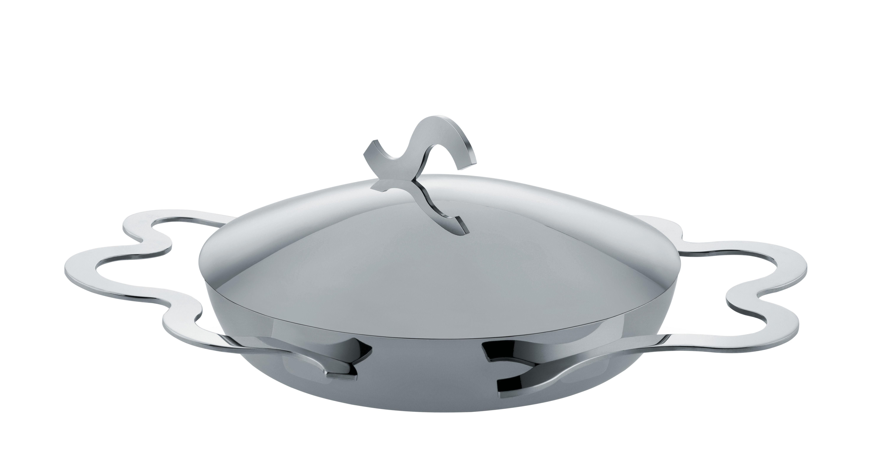 Cuisine - Casseroles, poêles, plats... - Plat à œoeuf Tegamino / Ø 17 cm - Alessi - Acier - Multiply