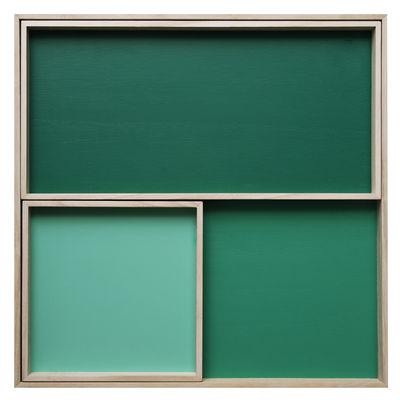 Arts de la table - Plateaux - Plateau Displays / Set de 3 - Nomess - Vert - Bois de balsa