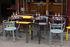 Poltrona impilabile Huggy Bistro Chair - / Alluminio di Maiori