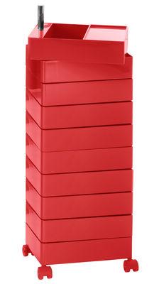 Image of 360° Rollcontainer 10 Schubladen - Magis - Rot glänzend