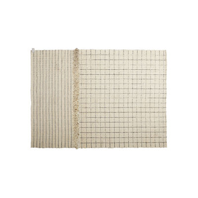 Decoration - Rugs - Subas Small - Karo Rug - / 200 x 160 cm - Wool by ames - 200 x 160 cm / Beige - Wool