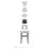 Masters Stackable armchair - Metallized by Kartell