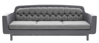 Furniture - Sofas - Onkel Straight sofa - W 235 cm - 3 seats by Normann Copenhagen - Light grey - Fabric, Wood