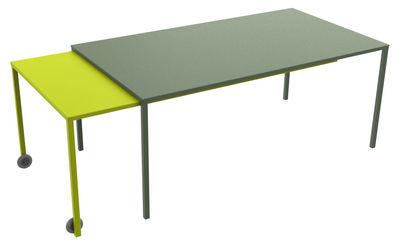 Table à rallonge Rafale XL / L 180 à 320 cm - Matière Grise kaki,anis en métal