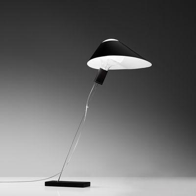 Lighting - Table Lamps - Glatzkopf Table lamp - / Paper by Ingo Maurer - Black - Metal, Paper